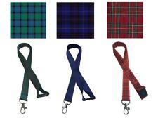 Traditional Scottish Tartan Lanyard / Neck Ribbon with safety Breakaway