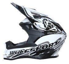 NEW WHITE Wulfsport Sz L Kids Motocross Helmet Children Boy Quad YOUTH JUNIOR