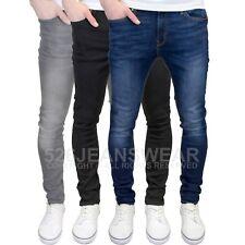 Jack&Jones Hombres Marca de diseño Pitillo Elástico Jeans Gris,