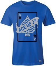 """Ace of J's"" T-Shirt to Match Air Retro 5  ""Blue Suede"" Flight Suit"