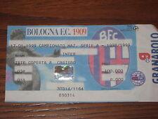 BOLOGNA INTER BIGLIETTO TICKET 1998/99 SERIE A