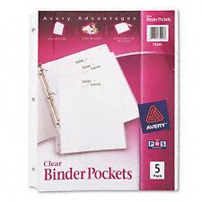 Avery Dennison Ave-75243 Durable 3-ring Poly Binder Pocket - Letter (75243)