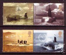 GREAT BRITAIN 2001 SUBMARINE PERF. VARIETY SET 4 U.MINT