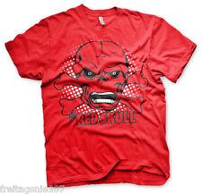 MARVEL RED SKULL  T-Shirt  camiseta cotton officially licensed