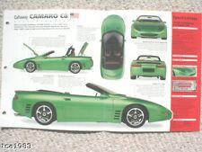 Chevy CALLAWAY CAMARO C8/C-8 SPEC SHEET/Brochure:1994,