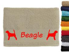 Beagle Hundemotiv Handtuch Hundehandtuch Hunde mit Namen