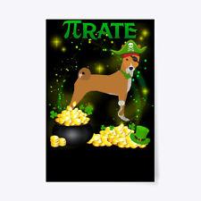"Basenji Pi Day St Patricks Gift Poster - 24""x36"""