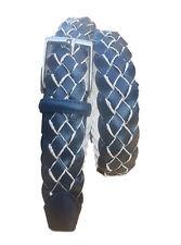 Cintura unisex Intrecciata di Pelle foderata in cotone -alt 3,5 CM