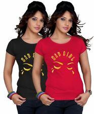Ladies Sad Girl With Tear Logo Top Printed TShirt Womens Short Sleeve Lot