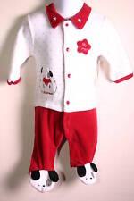Boys Christmas Puppy Sleeper Bodysuit With Feet 3 Mo Nwt Red, White, Black