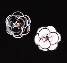 Brooch Pin Badge Bridal Jewelry Beauty Classic Elegant Enamel Camellia Flower