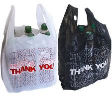 Tragetaschen WEISS Plastiktüten Taschen Shopper MDPE-Folie 2 x 5 cm 37 x 45
