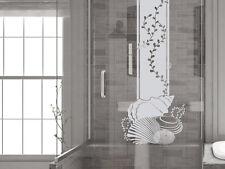 Glasdekor Folie Fensterdekor für Badezimmer Algen Muscheln Dekoration