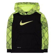Nike Boys Dri-FIT Line Design Therma Pullover Hoodie ** BLACK/VOLT ** NWT