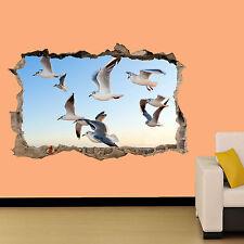 Flying sea birds in Blue Sky Wall Sticker Decorazione Per Soggiorno Decalcomania Murale una classe