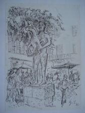 Vallauris Marktplatz Picasso 1950 Mann mit Schaf Georg Salzmann Tübingen Zerbst