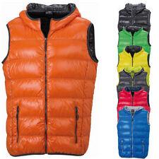 James & Nicholson Herren Daunenweste Down Vest Jacke Sweatshirt Shirt S - 3XL