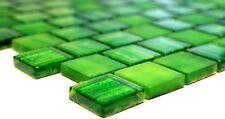 Mosaikfliese Quadrat Glasmosaik Transparent Crystal mix grün - 78-CF83