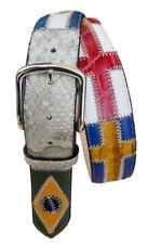 Cintura in Pelle 4 CM , Soggetto bandiere del Mondo