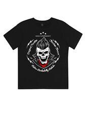 t-shirt da bambino cotone biologico Rokcabilly tigre maglieta teschio maglietta