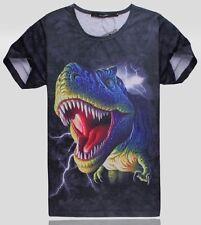 T-shirt Dinosaure 3D T-Rex Tyranosaure Enfant / Adulte Neuf Dinosaur