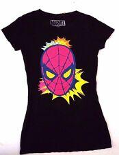 Marvel Spider-Man Adult Teens Women Black T-Shirt Tunic Dress Sizes S M L XL