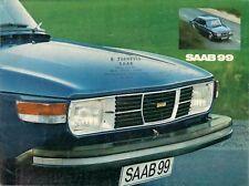 Saab 99 2.0 2dr Saloon 1974-75 UK Market Sales Brochure