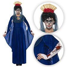 femme long bleu JOUR DES MORTS Sacré VIERGE MARIE Festival Costume déguisement