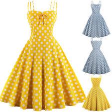 Plus Size Women Vintage 1950'S Retro Rockabilly Evening Party Swing Tea Dress UK