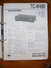 Service-Manual Sony tc-w490 cassette deck, origina
