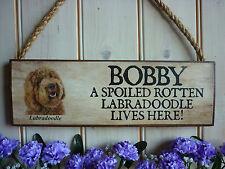 Hecho a pedido Labradoodle signo propio nombre signo Casa Placa Labradoodle Perros De Regalo