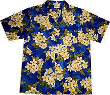 Camicia Hawaiana / 100% poliestere / M - 6XL / Hawaiiana Hawaii Hawai fiori blu