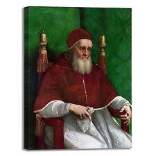 Raffaello ritratto Papa Giulio II quadro stampa tela dipinto telaio arredo casa