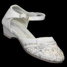 Klacker Schuhe Sandale Taufe Brautschuhe Kinder Schuhe Mädchen Glitzer 413 Weiss