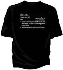 Alfa Romeo Duetto Spider classic car t-shirt  - 'alfaromitis' definition.