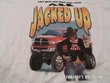 NEW Redneck T-Shirts: All Jacked Up (White) Small, Medium, Large, Extra Large