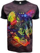 Sublimación gato Punk Camiseta Negro Nuevo/Lindo Gato/Gatito/Salvaje/Prenda para el torso Camiseta