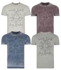 Lee Cooper Impreso Farway nuevo para hombre Camisetas Camiseta Top de jersey de algodón desvaído estilo vintage