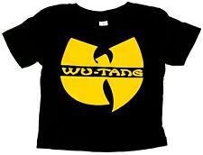 WU TANG CLAN T-shirt Rap Hip Hop Tee Baby Infant 6M,12M,18M,24M Black New