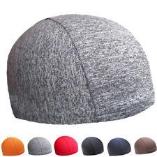 Unisex Helmet Under Cap Running Skull Soft Cap Cycling Helmet Liner Beanie Hat