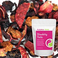 Strawberry Fields Hibiscus Fruit Tea - Herbal Loose Leaf Tisane - Fusion Teas