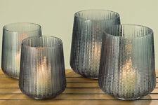 2 x Windlichter Talamo im Set Glas Teelichthalter Kerzenhalter H19-23cm Dekovase