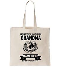 abuela personalizado Bolsa Shopper Gracias Amend REGALO DE CUMPLEAÑOS GRANNIE