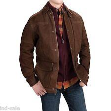 Custom Tailor Made Genuine Suede Casual LEATHER JACKET EDH Blazer Lambskin