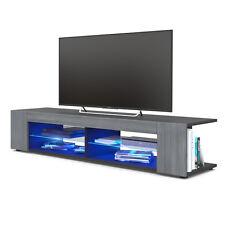 Mobile nero per tv Vasco, porta tv in 12 colori, soggiorno giovane e moderno