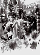 Bride of Frankenstein Mad Scientist Classic Black & White Horror Film Fine Art