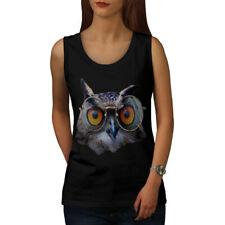 Owl Glasses Hipster Funny Women Tank Top NEW | Wellcoda