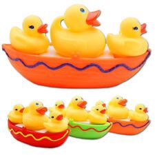 3 x Badeente Familie Boot Mutter Baby Spielzeug Enten Quitscheente Gummi Spass