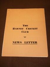 THE BARNET CRICKET CLUB NEWSLETTER - April 1967