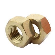 BRASS Hexagon Hex Nuts M1.4 M1.6 M2 M2.5 M3 M4 M5 M6 M8 M10 M12 M14 M16 M20 M24